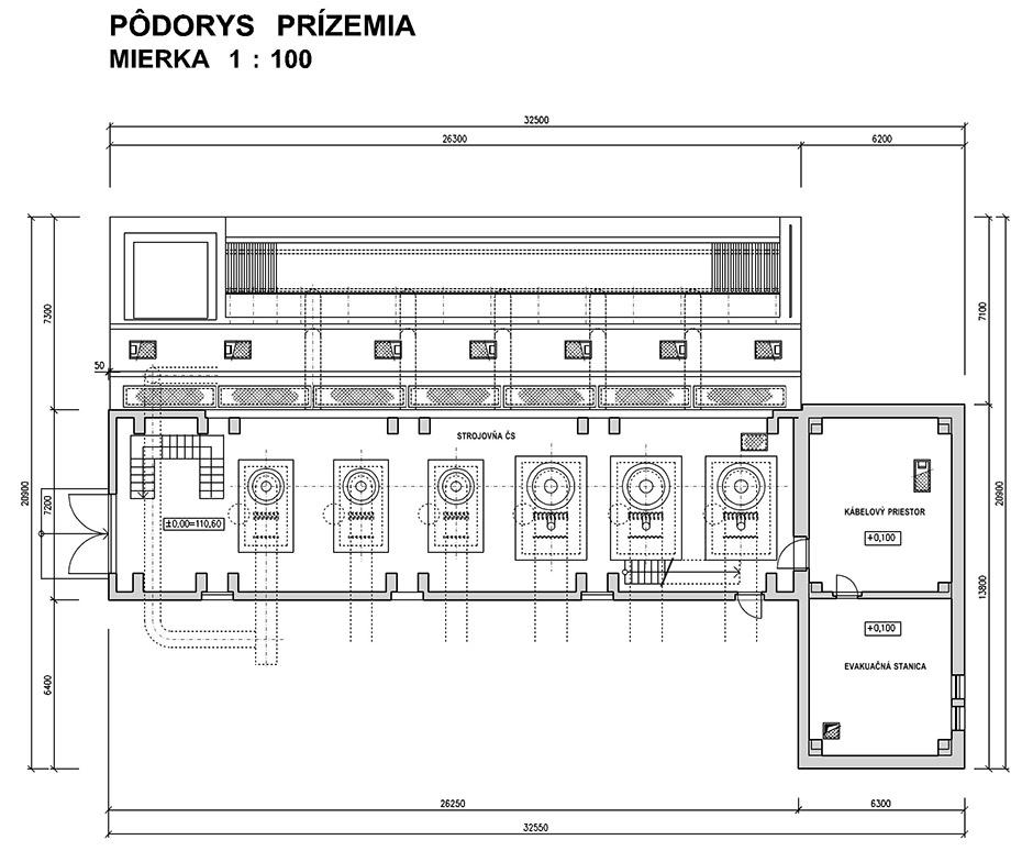 Čerpacia stanica Viničné - Pôdorys