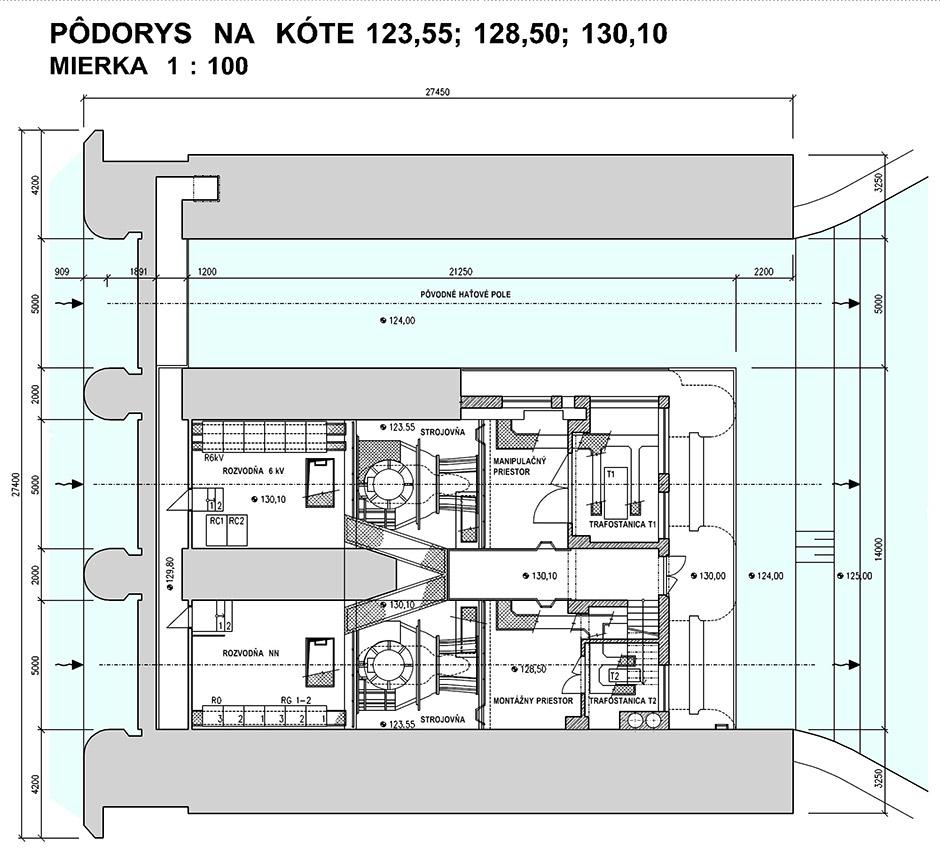 Malá vodná elektráreň Pálenisko - Pôdorys